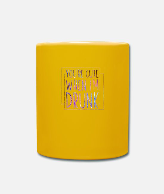 Funny Bowling Mugs & Drinkware - You're Cute When I'm Drunk Funny Oktoberfest - Mug sun yellow
