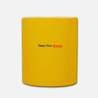 New Age Times New Roman - Taza de un color