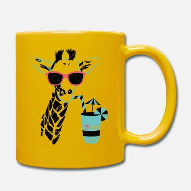 Officialbrands Animal Planet Africa Giraffe With Cocktail - Full Colour Mug