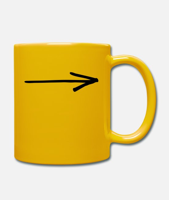 Knee Mugs & Drinkware - Arrow - Mug sun yellow