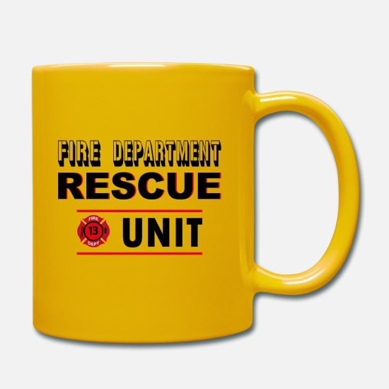 United States Mugs et récipients - Rescue Unit - Mug jaune soleil