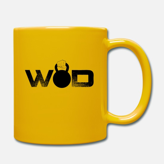 Squat Mugs & Drinkware - Cross Fit Kettlebell WOD - Mug sun yellow