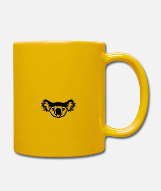 Headset Mugs & Drinkware - Koala Bear Head - Mug sun yellow