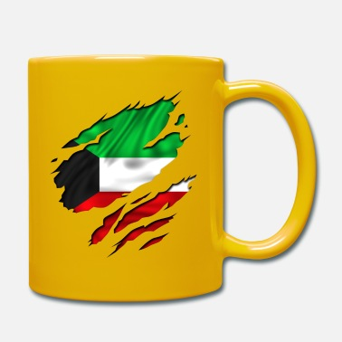Country Flag Football Sport And Arab Art Jesus koweit koweït kuwait - Mug