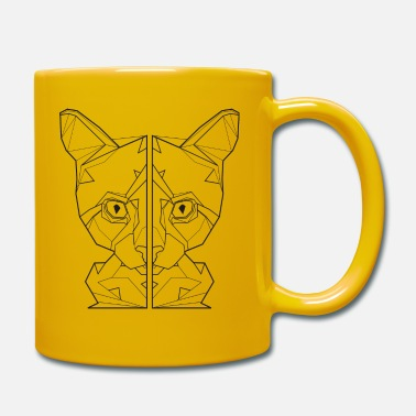 Face cat lover gift friend kitten shirt - Mug