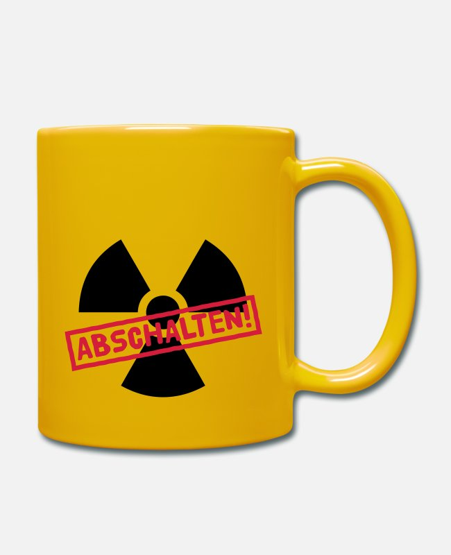 Nuclear Fukushima Mugs & Drinkware - Nuclear power shutdown - Mug sun yellow