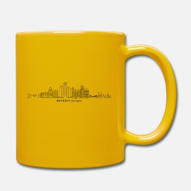 By DETROIT Michigan USA Skyline City - Krus