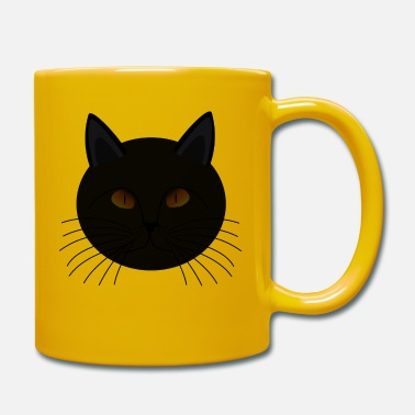 Superstition Dark black cat bad luck superstition - Mug