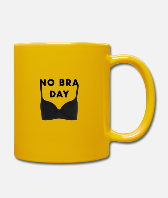Big Breasts Mugs & Drinkware - No Bra Bust Support Gift - Mug sun yellow