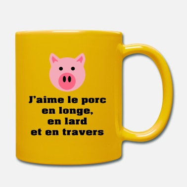 Lard longe-lard-travers (couleur) - Mug