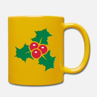 Berries Holly leaves with red berries - Mug