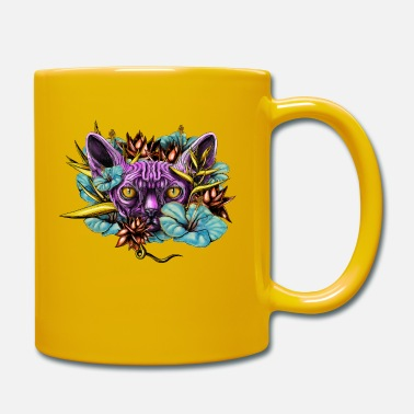 Florest Sphinx Cat and the Flowers - Mug