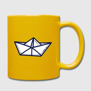 Paper Paper ship paper boat - Full Colour Mug