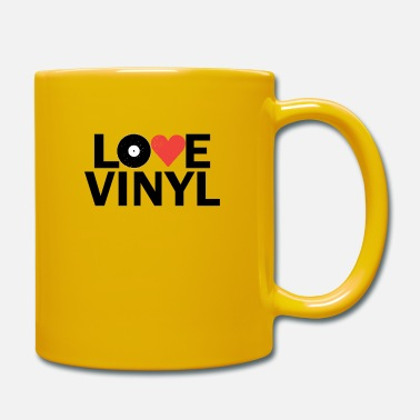 Golden Record Love Heart Vinyl Records - Mug