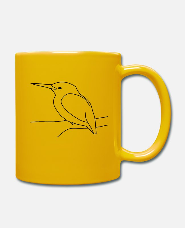 Hatch Mugs & Drinkware - kingfisher - Mug sun yellow