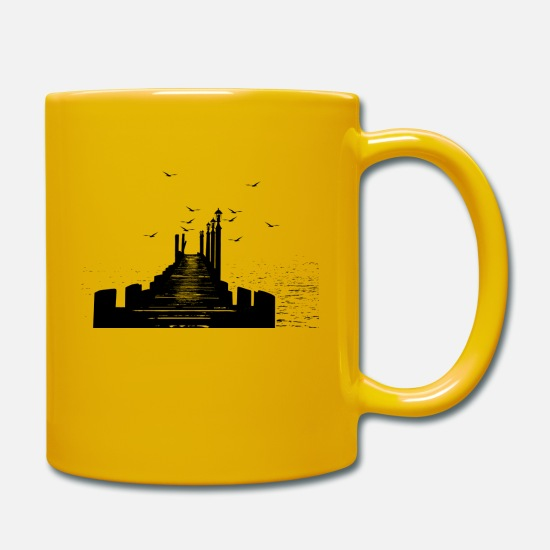 Pigeon Mugs & Drinkware - The Pier - Mug sun yellow