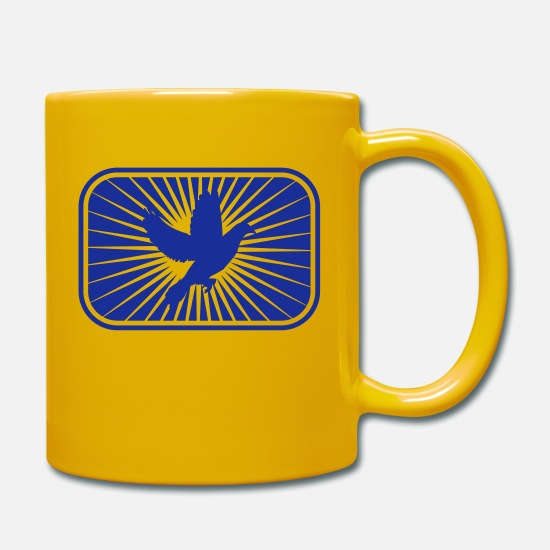 Symbol  Mugs & Drinkware - Peace Dove - Mug sun yellow