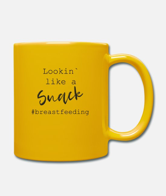 Nature Mugs & Drinkware - Lookin like a snack - Mug sun yellow