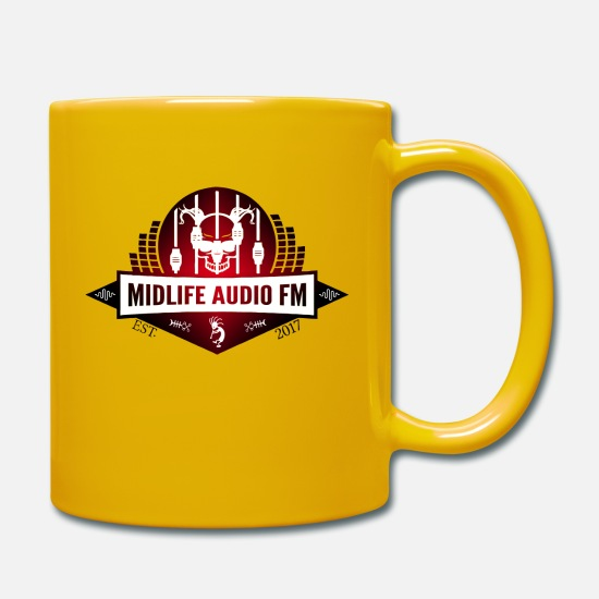 Youtube Tassen & Becher - Midlife Audio FM Logo - Tasse Sonnengelb