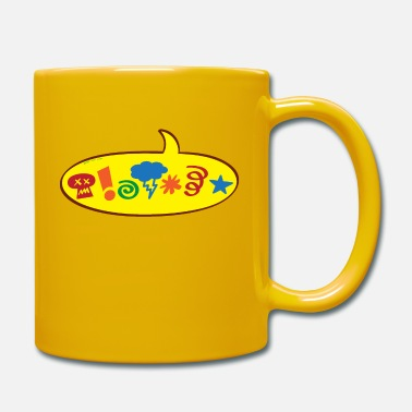 Speech Balloon Cursing bad words speech balloon - Mug