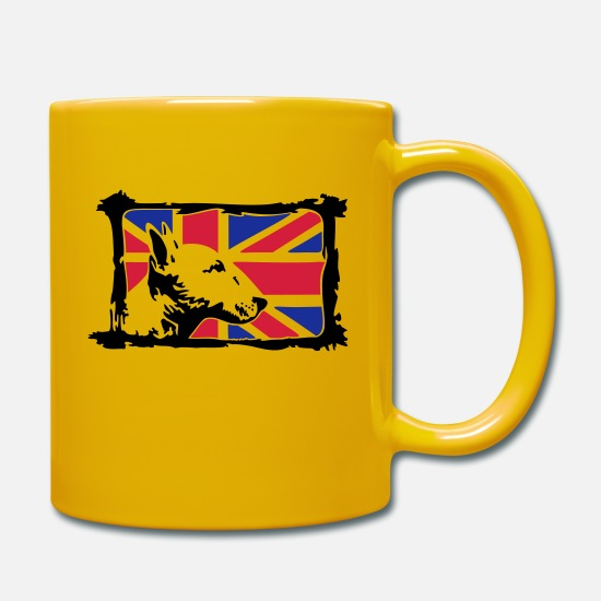 Bull Terrier Mugs & Drinkware - Bullterrier - Mug sun yellow