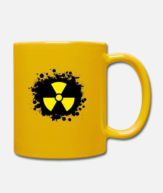 Symbol  Mugs & Drinkware - Yellow / yellow Radioactive, radioactivity symbol - Mug sun yellow