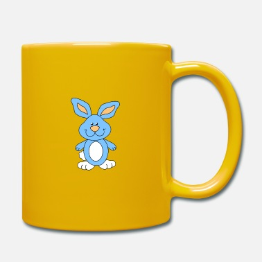 Grinning Cute blue rabbit - Mug