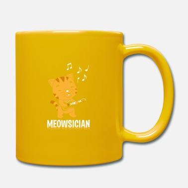 Sound Perfect Musician Design Quote Meowsician - Tasse