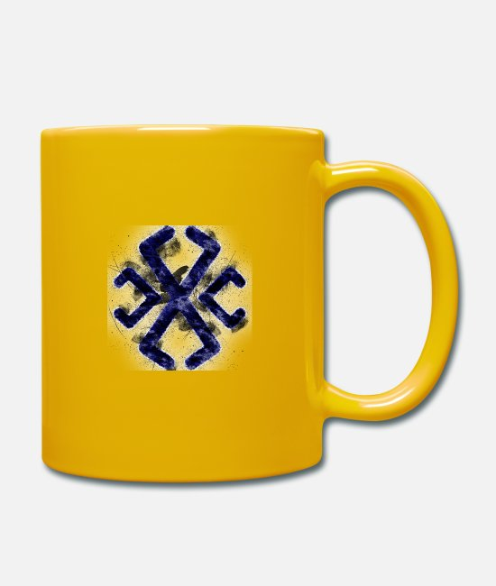 Astrology Cards Mugs & Drinkware - Symbol Astrology Astrological Line SymbolSymbol; A - Mug sun yellow
