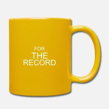 Record For the record - Mug