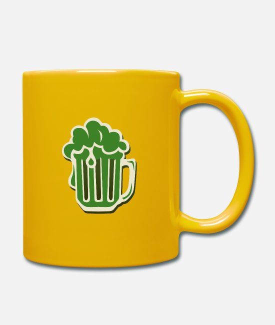 St Patricks Day Mugs & Drinkware - beer mug binouze saint patrick foam alcohol ve - Mug sun yellow