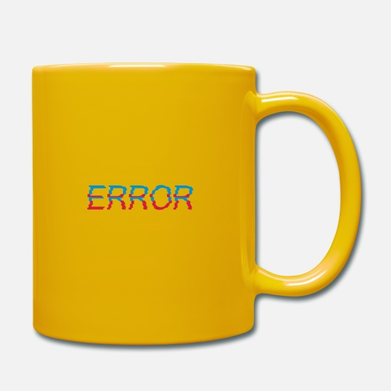 Broken Mugs & Drinkware - Typography error message Error - Mug sun yellow