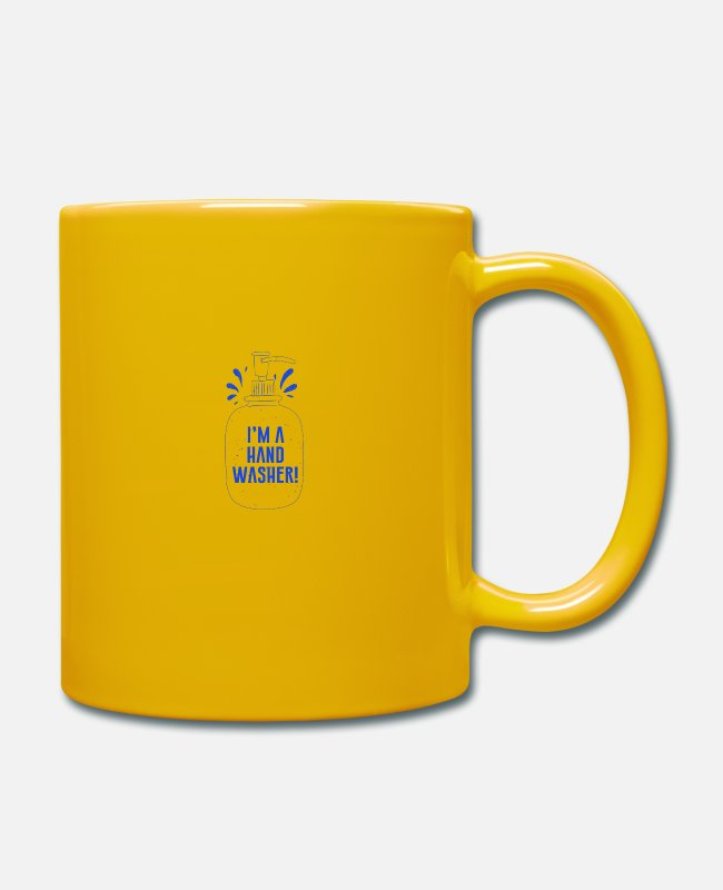 Hipster Mugs & Drinkware - I'm a hand washer - Mug sun yellow
