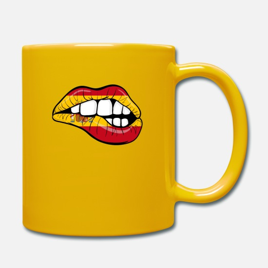 National Team Mugs & Drinkware - Spain Football Fan Team Gift Sexy - Mug sun yellow