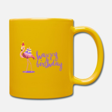 Happy Birthday Happy birthday flamingo - Taza de un color