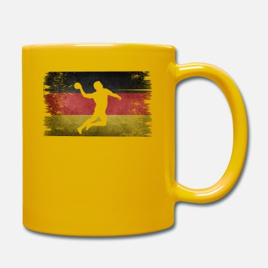 Tain Handball player Germany retro flag - Mug