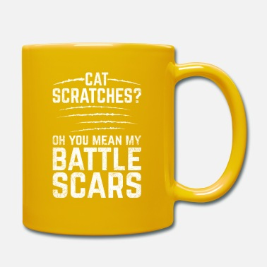 Blessure Drôle Scars Design Quote Cat Scratches Bataille Cicatrice - Mug