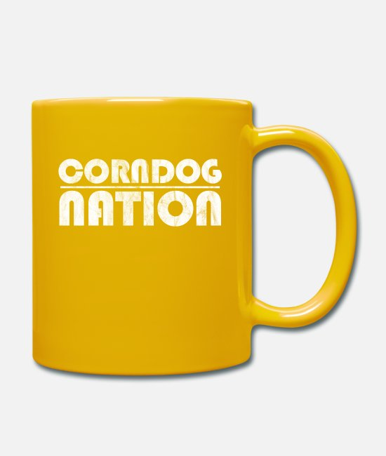 Vegetables Mugs & Drinkware - Corn dogs make me happy - Mug sun yellow