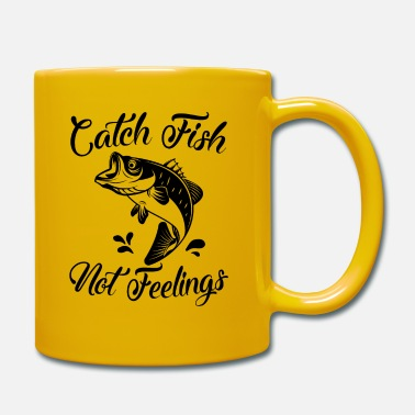 Catch Fish Not Feelings Funny Fishing Women Saying - Mug