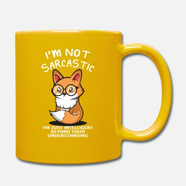 Sarcastic Intelligent Fox Sarcastic e Intel - Tazza