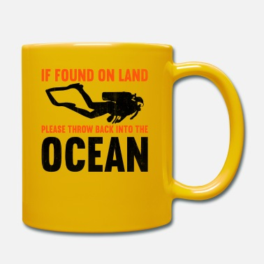 Suit If found on land, please throw back into the ocean - Mug