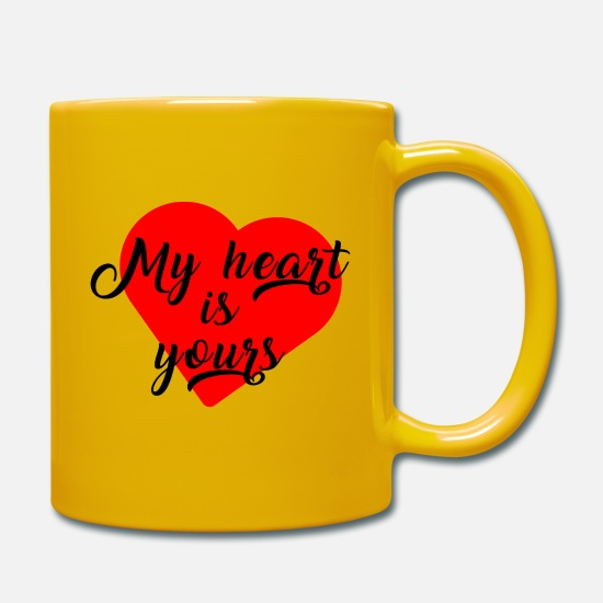 Birthday Mugs & Drinkware - My heart is yours - My heart is yours! - Mug sun yellow