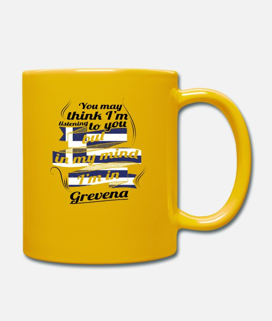 Travel Bug Mugs & Drinkware - GREECE GREECE TRAVEL IN GREENA Greece - Mug sun yellow