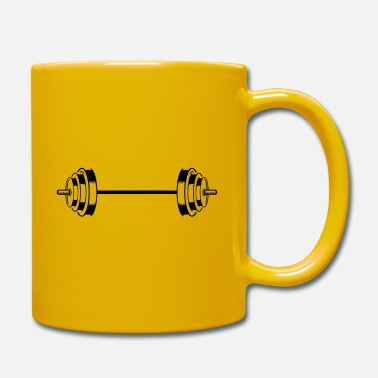Pain dumbbell icon weights symbol barbell - Mug