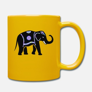 Pachyderm Elephant pachyderm with colorful pattern - Mug