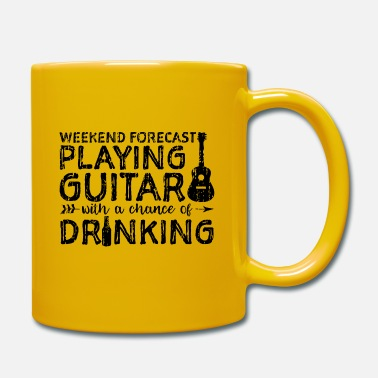 Electric Guitar Weekend Forecast Playing Guitar With A Chance Of D - Mug