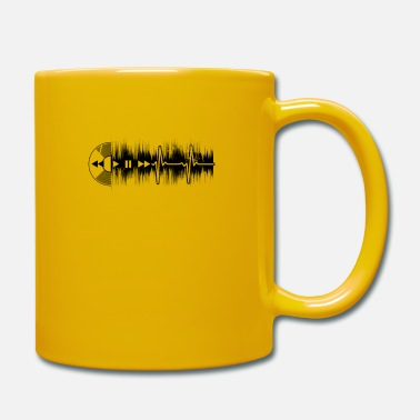 Techno Vinyl Junkie Vinyl Heartbeat ECG Gift - Full Colour Mug