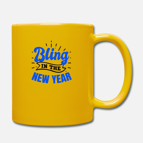 Alcohol Mugs & Drinkware - New Years Eve Bling In The New Year Gift - Mug sun yellow