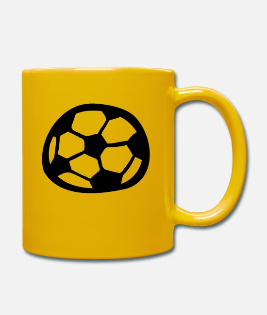 Comic Style Mugs & Drinkware - Soccer - Mug sun yellow