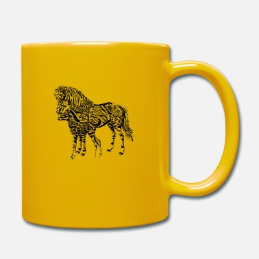 Mare Mare with a foal - Mug